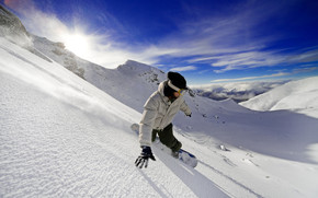 Exciting Snow Skiing wallpaper
