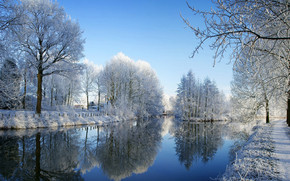 Winter Sunny Day wallpaper