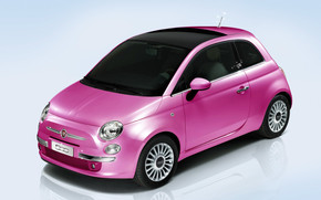 Fiat 500 Barbie wallpaper