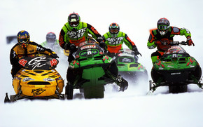 Snowmobile race wallpaper
