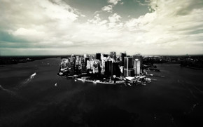 Lower Manhattan wallpaper