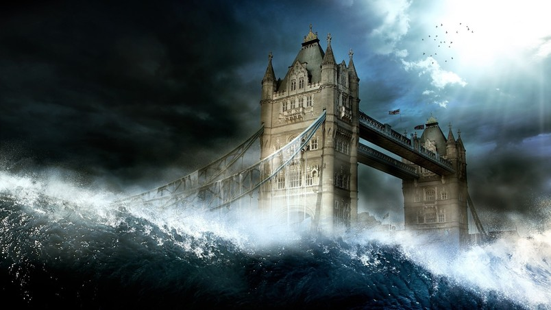 London Tower Bridge Wave wallpaper