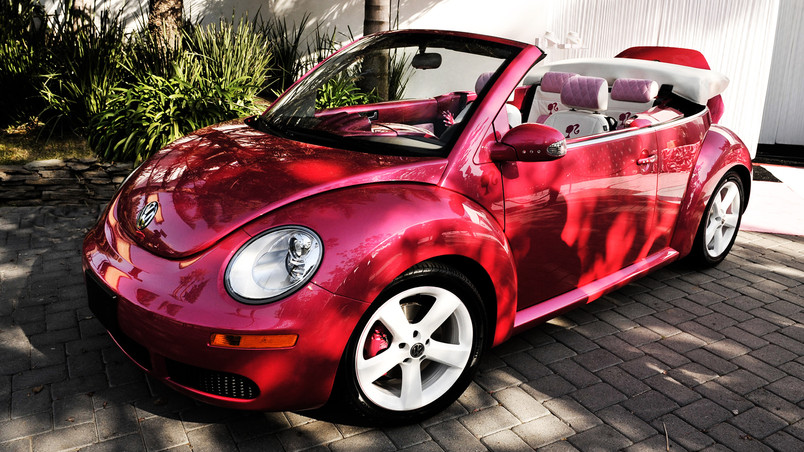 VW Beetle Barbie wallpaper