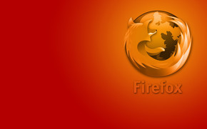 Orange Firofox wallpaper
