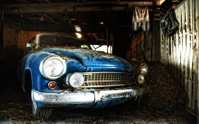 Old time car in a Shack wallpaper