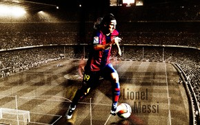 Lionel Messi Barcelona Fan Art wallpaper