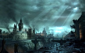 London under disaster wallpaper
