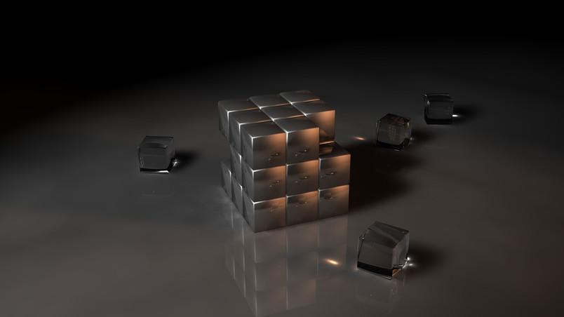 Black Rubiks Cube Hd Wallpaper Wallpaperfx
