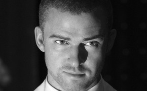 Justin Timberlake Black & White wallpaper