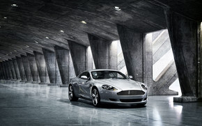 Grey Aston Martin DB9 wallpaper