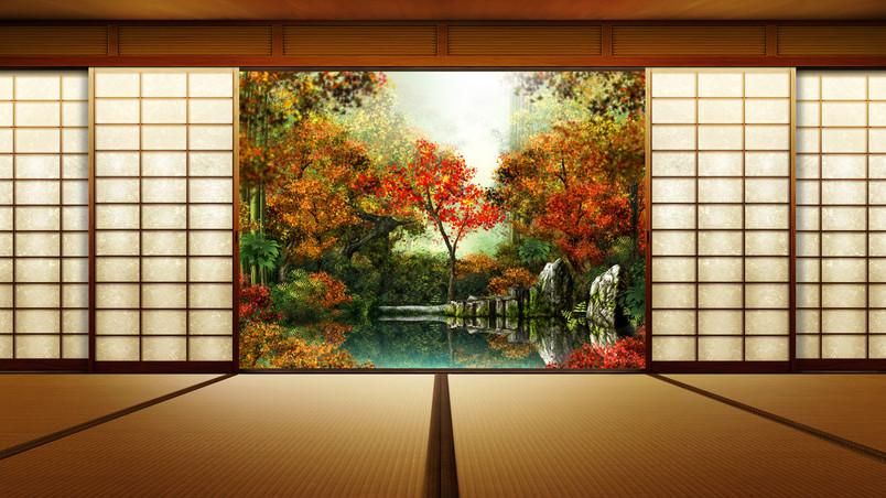 Autumn Window wallpaper