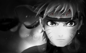 Naruto Blak and White wallpaper