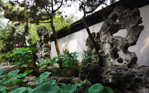 Chinese Garden Architecture wallpaper