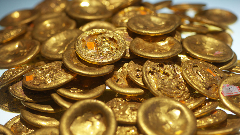 Old Chinese Gold Coins wallpaper