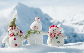 Cute Snowmen wallpaper
