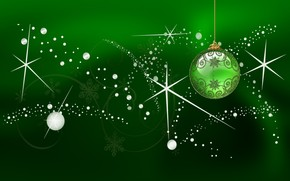 Green Globe for Chirstmas