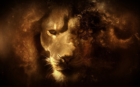 Fantasy Lion Portrait wallpaper