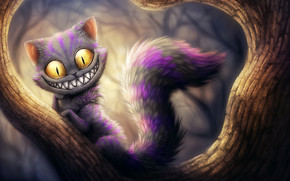Cheshire Cat from Alice Adventures in Wonderland wallpaper