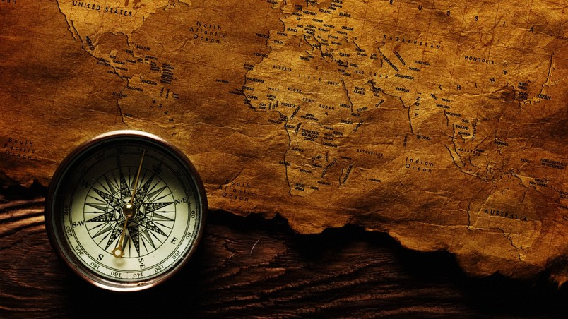 Map and compass hd wallpaper wallpaperfx - Compass hd wallpaper ...