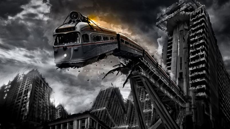 Fantasy City Disaster wallpaper