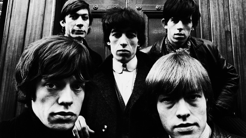 Rolling Stones Black and White wallpaper
