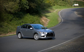 Mitsubishi Lancer RalliArt Grey wallpaper
