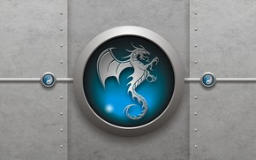 Logo Dragon 3D wallpaper
