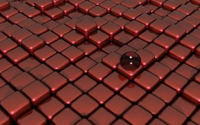 Red Glass on Box Floor wallpaper