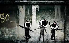 TV Heads wallpaper