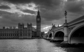 Palace of Westminster Black and White wallpaper
