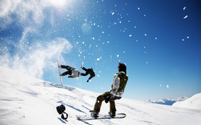 Winter Snowboarding wallpaper