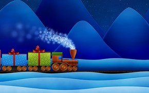 Train with Gifts wallpaper
