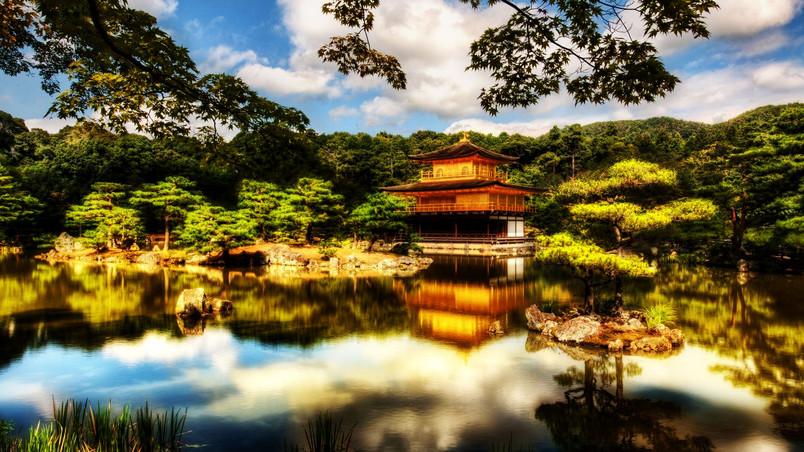Great Japanese Temple HD Wallpaper - WallpaperFX