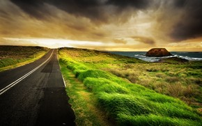 Road West HDR wallpaper