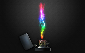 Rainbow Lighter wallpaper