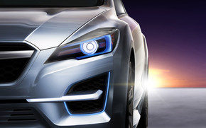 Subaru Impreza Concept headlight wallpaper