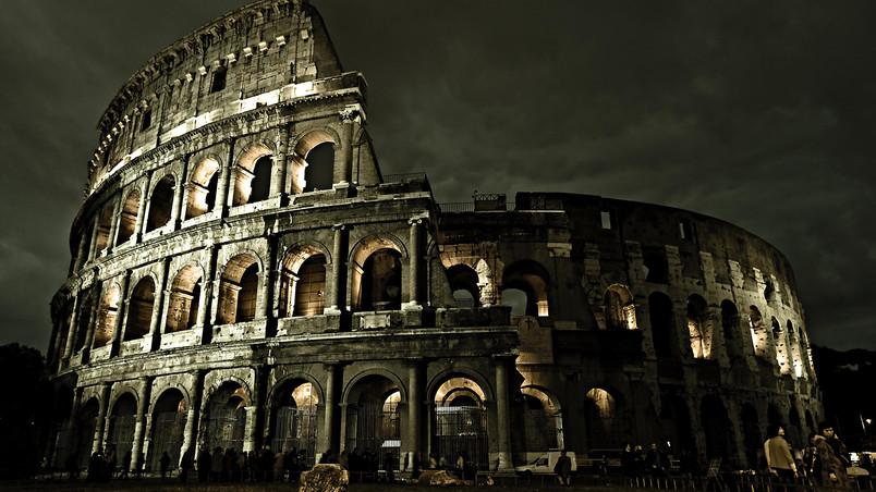 Dark Rome Coliseum Hd Wallpaper Wallpaperfx