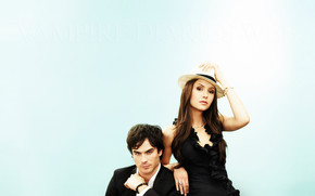 Nina Dobrev and Ian Somerhalder wallpaper