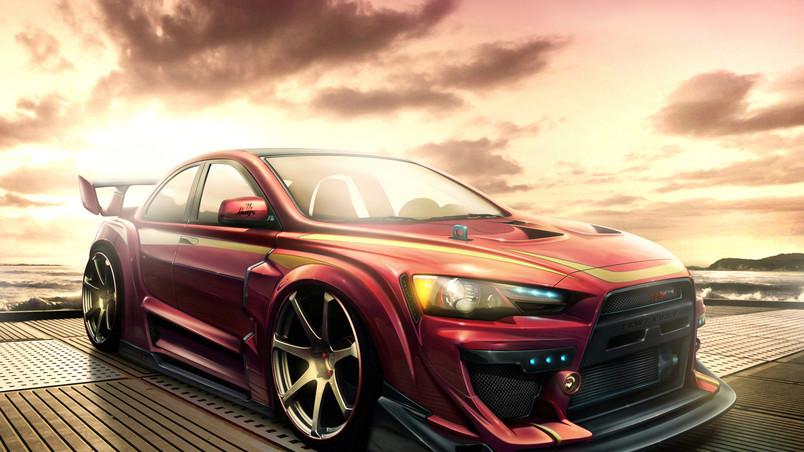 Mitsubishi Lancer Tuning Hd Wallpaper Wallpaperfx