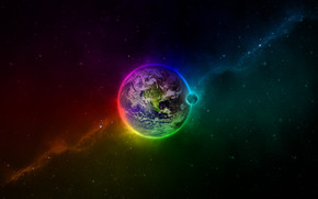 Colourful Space wallpaper