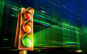 3D traffic light wallpaper
