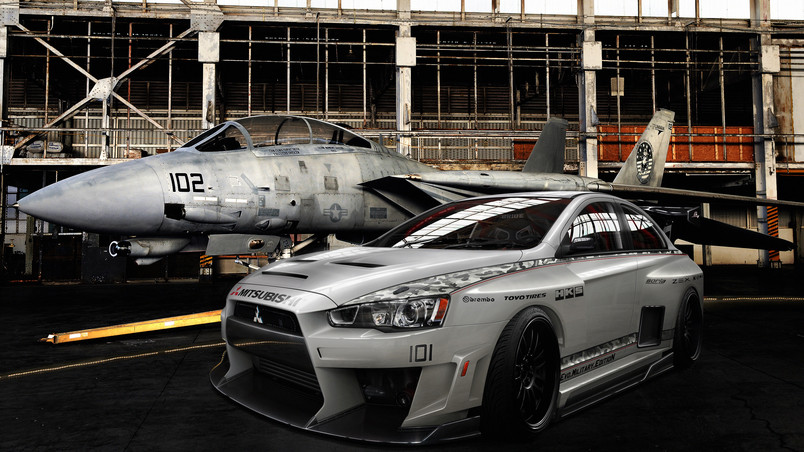 Mitsubishi Lancer Evolution Military wallpaper