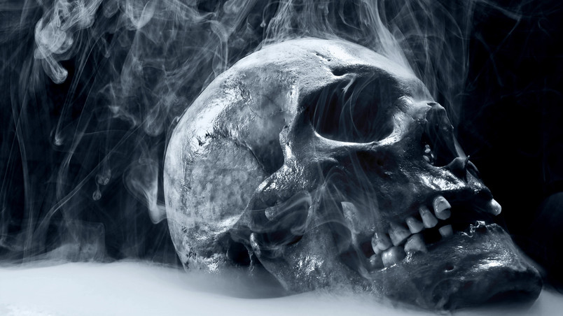 Skull Smoking wallpaper