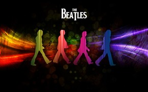 The Beatles Shadows wallpaper
