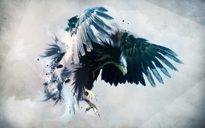Digital Eagle wallpaper