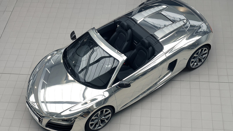 Audi R8 V10 Spyder Chrome wallpaper