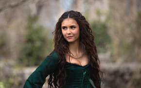 Nina Dobrev Green Dress wallpaper