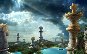 Fantasy Chess Pieces wallpaper