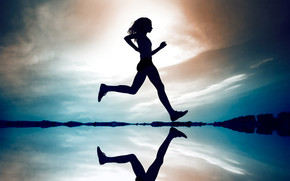 Girl Running wallpaper