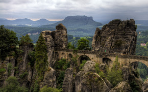 The Bastei Bridge wallpaper